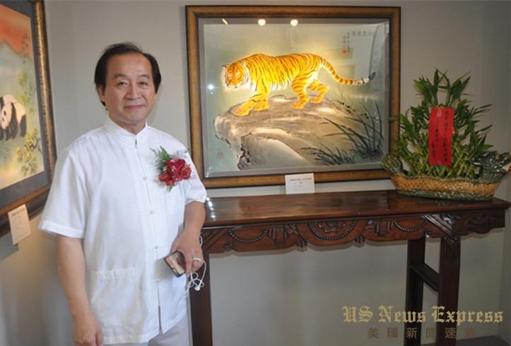 著名画家何念丹的新作在当天的活动上展出  孙卫赤摄