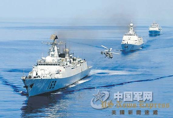 中国海军首批护航编队。 钱晓虎摄 中国军网
