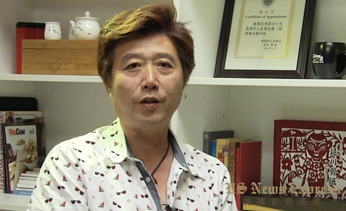 孙耀宁接受采访。