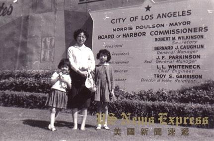 赵小兰与母亲、二妹来美时在洛杉矶短暂停留。赵小兰官网图