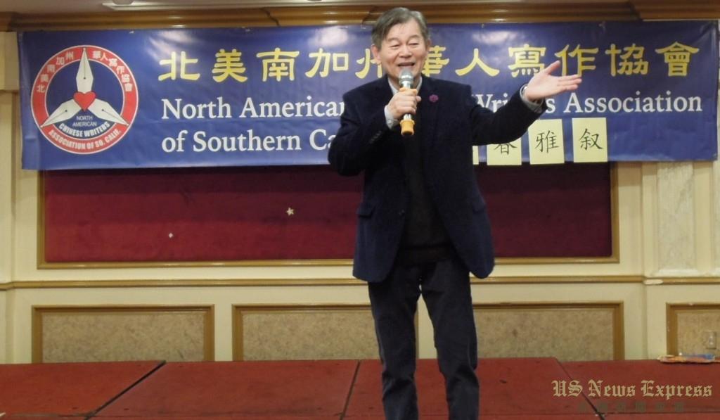 北美南加州华人写作协会会长廖茂俊。钱美臻摄
