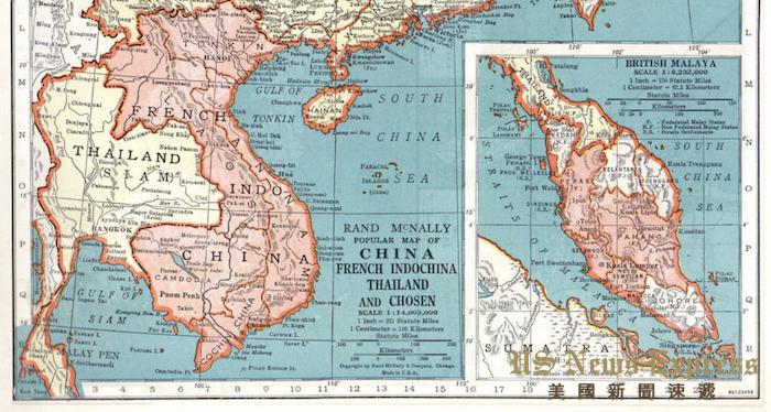 1940年的兰德麦克纳利地图集中。陈灿培提供